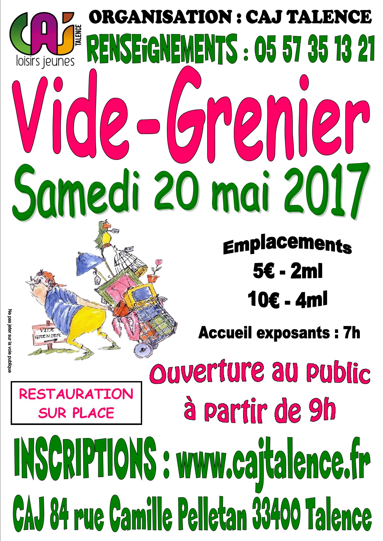 Caj talence loisirs jeunes vide grenier samedi 20 mai - Vide grenier paris 20 ...